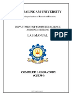 Cse384 Compiler Design Laboratory Lab Manual