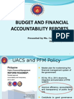 BUDGET AND FINANCIAL ACCOUNTABILITY REPORTS (BFARs)