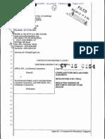 15-01-12 Apple Complaint Against Ericsson