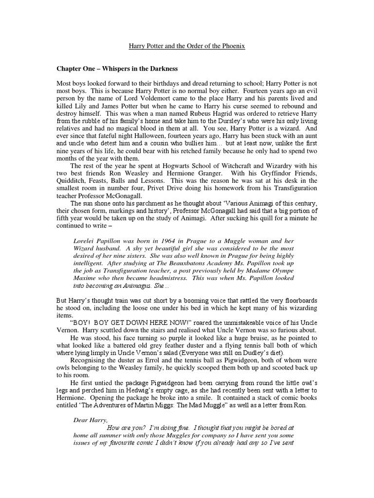 Order of the phoenix theme essays