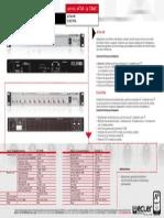 Distribuidor de Audio ECLER DAC110E Características Principales