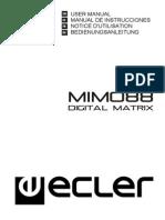 Matriz de Audio ECLER MIMO 88 Manual de Instrucciones