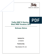 Release Notes for Stat900 Version 235