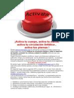 Activa tu circulación linfática
