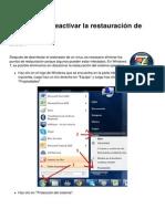 Desactivar o Reactivar La Restauracion de Windows 7 10772 Mmx6i1