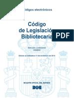 BOE-024 Codigo de Legislacion Bibliotecaria