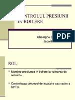 Controlul Presiunii in Boilere
