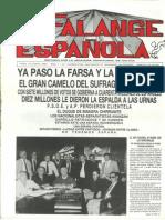 Falange Española nº 3. 15 de junio de 1987.