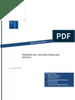 Dossier de presse - Rebond de l'éolien français en 2014