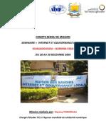 Compte Rendu de Mission Ouagadougou 2009