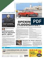 Asbury Park Press front page Friday, Jan. 16 2015