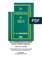 As Exigências De Deus - Charles H. Spurgeon
