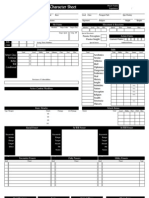 Custom D&D 4th Edition Character Sheet