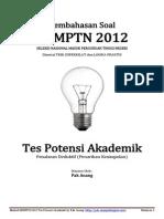 Pembahasan Soal SNMPTN 2012 Tes Potensi Akademik (Penalaran Deduktif) Kode 613