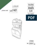 Bizhub 25e Parts Manual