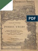 Alexandru a. Beldiman - Colecțiune de Poesii Vechi - Cântece Vechǐ Ale Poporuluĭ Român ; Din Psalmiǐ Luǐ Dositheiǔ Mitropolitulǔ ; Culegerea