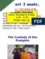 the custody of the pumpkin - characters setting language