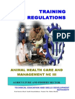 008 TR Animal Health Care and Management NC III