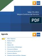Taller ITIL Sesion_6 Mejora_Continua_del_Servicio v05 00