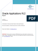 Oracle Applications R12 - Payroll Setups v1.2