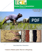 15th January,2015 Daily Global Rice E_Newsletter by Riceplus Magazine