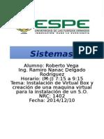 VirtualBox y Maquina Virtual -Ubuntu- Vega Roberto