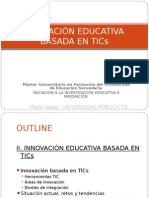 Innovación Educativa basada en TICs