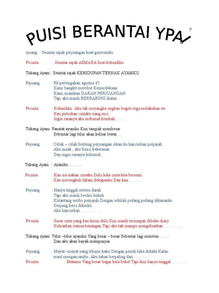 Contoh Puisi Berantai Tentang Hari Guru Brad Erva Doce Info