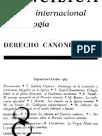 Revista Concilium 008 (1965) - Derecho Canonico