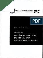 Apuntes de Diseño de Una Obra de Desvio Con Conductos en Tunel