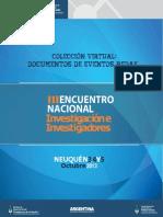 III Encuentro Investigacion Neuquen REDAF 2013