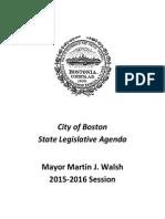 City of Boston State Legislative Agenda