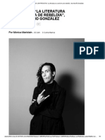 """SinEmbargo MX _ ENTREVISTA _ """"La Literatura Es Una Forma de Rebeldía"""", Dice Mariño González"""