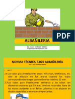 Albañileria f