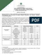 Edital Seleção ProfessoresTemporarios 2015