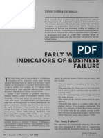 Sharma & Mahajan (1980) Early Warning Indicators of Business Failure