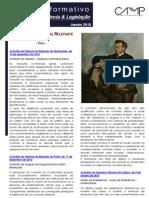 Newsletter Intercalar da CAMMP de Janeiro de 2015