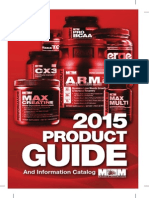 2015 Max Muscle Sports Nutrition Product Guide