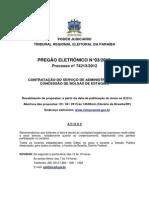 TRE PB Pregao Eletronico 03 2013