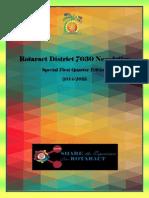 1st Quarter District Newsletter Newsletter- English
