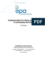 Guidance Note for Noise in Relation to Scheduled Activities