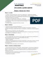 Biología y Ciencias de La Tierra Temario AGS