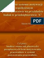Znaczenie systemu motywacji w współczesnym przedsiębiorstwie na.ppt