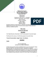 Medford City Council Agenda January 20, 2015