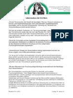 Stellungnahme Ausbau Uni BE