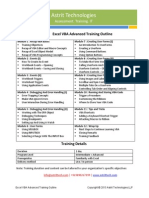 Excel VBA Advanced Training Curriculum