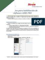 Instructivo Para Habilitación de Software AIMS PRO v2