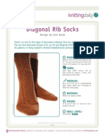 Ann Budd - Diagonal Rib Socks Pattern