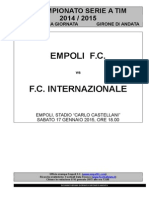 Empoli-Inter - 19° giornata serie A