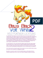Blaze Black 2 pokemon salvajes